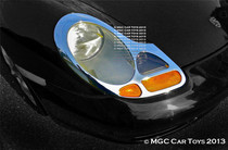 Porsche Boxster & Boxster S Headlight Chrome Trim Upgrade 1996-2004