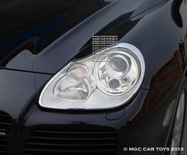 Porsche Cayenne GTS 2003-2006  Headlight Chrome Trim Surround (One Set)