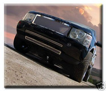 Range Rover 03-05 Chrome Mesh Grille Grill Full Kit Black & Powdercoated Option