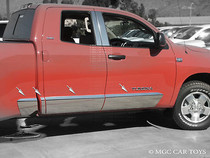 2007-2012 Toyota Tundra Double Cab Stainless Steel Rocker Panel 6.8' Bed 10'' 8 Piece Set