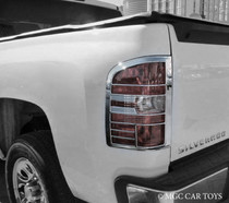 Chevrolet Silverado 07-Up High Quality Taillight Chrome Trim Surround MGC-C013