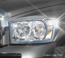 Dodge Ram 02-08 High Quality Headlight Chrome Trim Surround MGC-D001