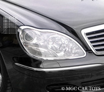 Mercedes Benz S Class W220 02-05 High Quality Headlight Chrome Trim Surround MGC-M039