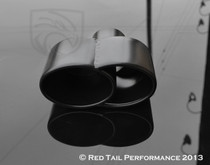 "Exhaust Muffler Tip  Quad Fused Oval Rolled Edge  2.25"" Inlet / ID, 7.35""X3.25"" Outer Dimension/ OD #RTP-027B"