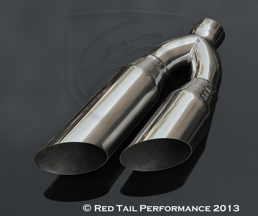 """3/"""" INLET ANGLE CUT OVAL CHROME TIP"""
