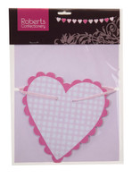 Party Bunting -  Pink Hearts