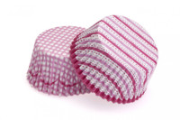 Cupcake Cases - Pink Hearts Pkt 24