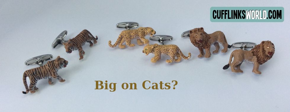 Purrfect cufflinks for all cat lovers!