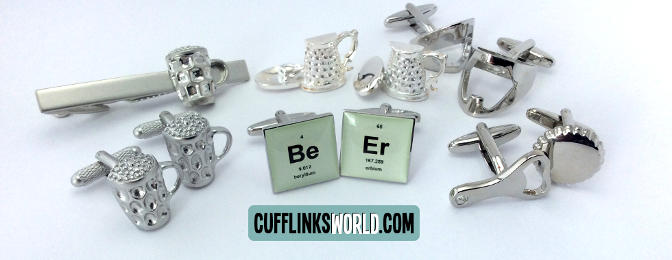 Say 'Cheers' with these beer themed cufflinks and accessories!