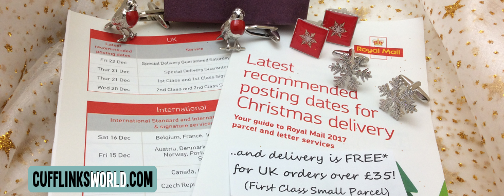 All our parcels are sent First Class Post via Royla Mail - make sure you order in time!