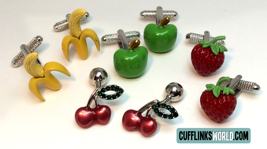 Fruity and fun and functional - what more could you want from your cufflinks!