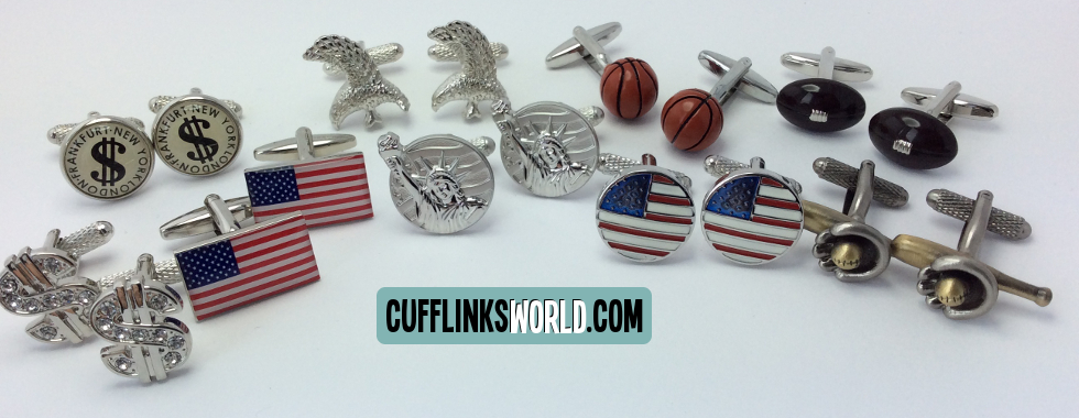 Show your love for America with our USA theme cufflinks