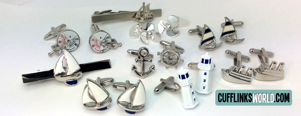 No need to be 'all at sea' about which cufflinks to wear - here at cufflinksworld it's plain sailing with our choice of over 1000 different styles