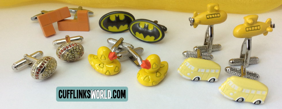 Add some sunshine to your sleeves with our choice of yellow themed cufflinks