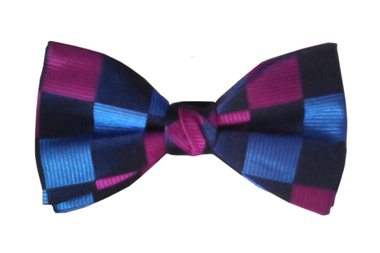Check Pattern Bow Tie