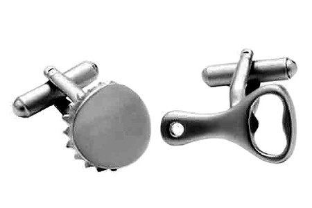 Bottle Cap and Opener Cufflinks