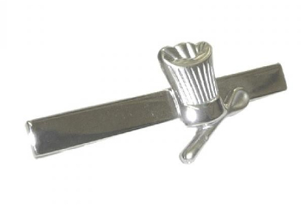 Chef's Hat and Spoon Tie Bar