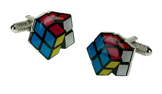Retro Rubix Game Cube Style Cufflinks