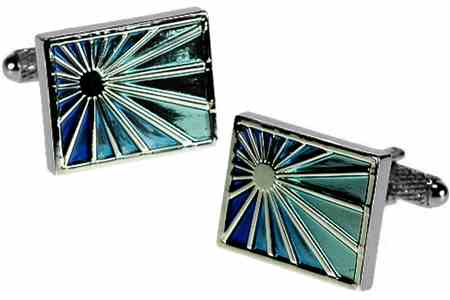 Blue Sunburst Cufflinks