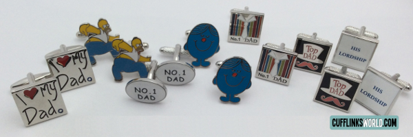 Dad themed cufflinks