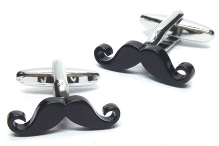 Curly Tipped Moustache Cufflinks