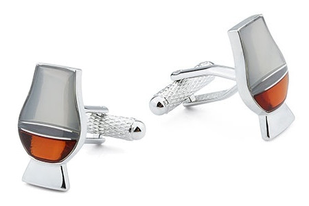 Glass of Whiskey or Whisky Cufflinks