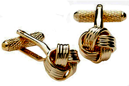Gold Coloured Knot Cufflinks