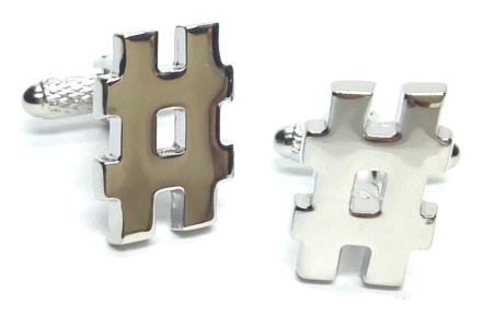 Hashtag Social Media Cufflinks