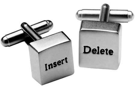 Insert and Delete Computer Keyboard Key Cufflinks