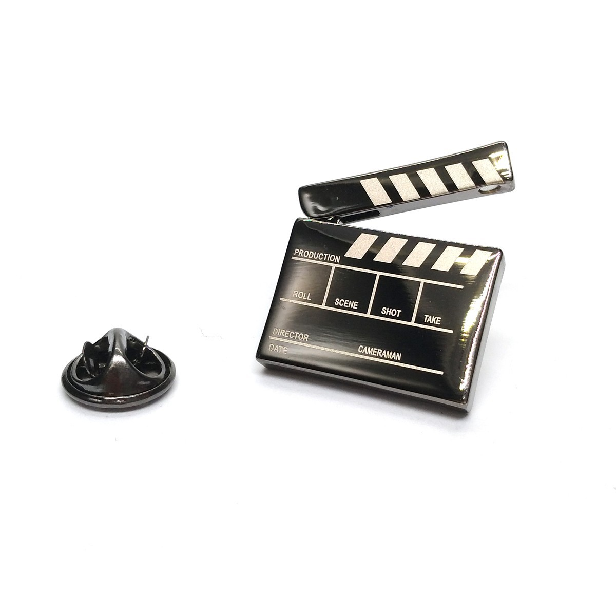 Film Clapper Board Lapel Badge with Moving Part
