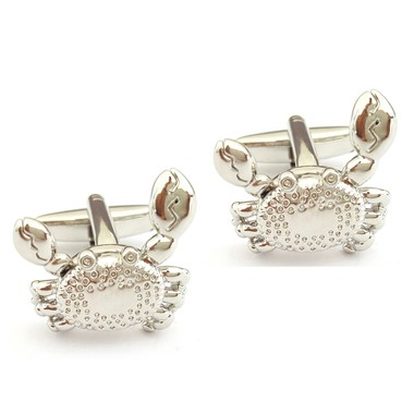 Crab Cufflinks with Moving Parts