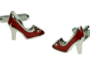 Red Stiletto Shoe Cufflinks