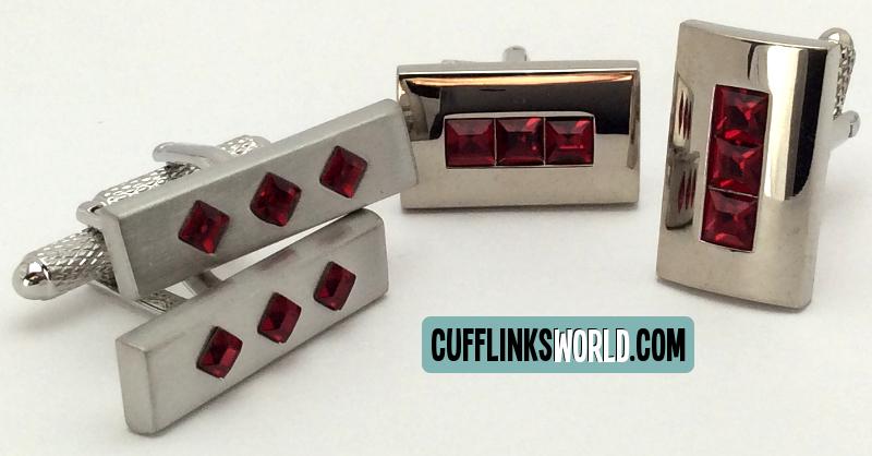 Ruby Red Cufflinks