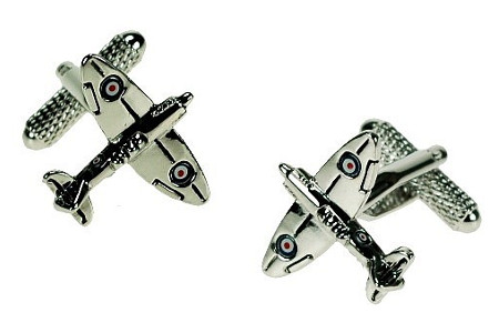 Spitfire Cufflinks with RAF logo