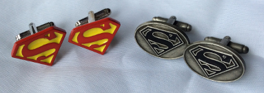 Superb Superman Cufflinks from- Cufflinksworld Ltd