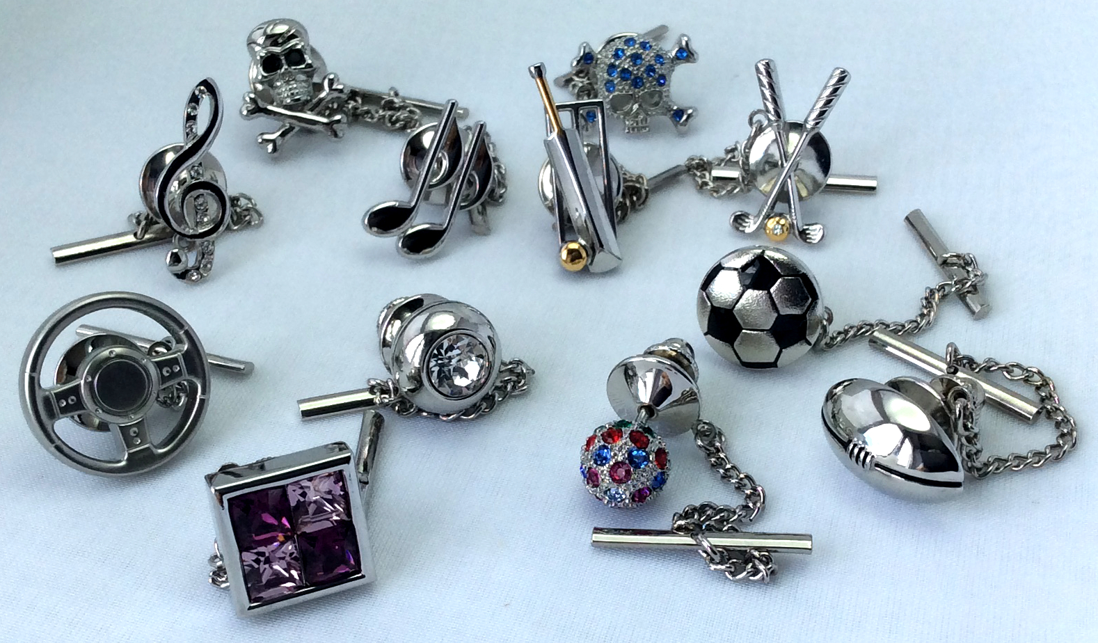 Choose from our excellent range of Tie Pins at CufflinksWorld.com