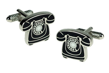 Traditional Telephone Cufflinks