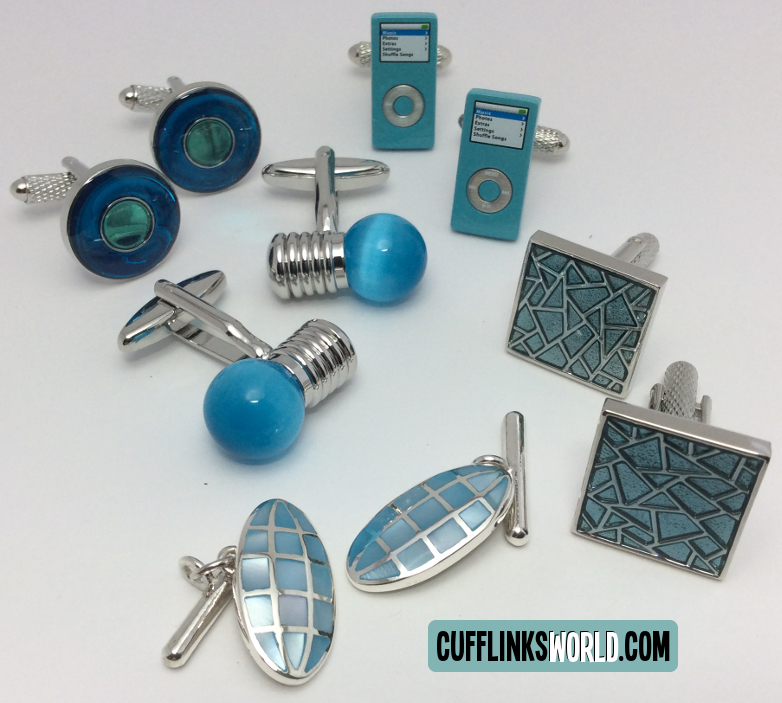 Turquoise Colour Cufflinks