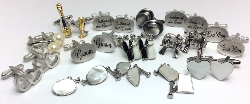 Whatever your wedding theme, find your perfect cufflinks at Cufflinks World