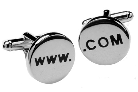 www. and .com Website Domain Name URL Cufflinks
