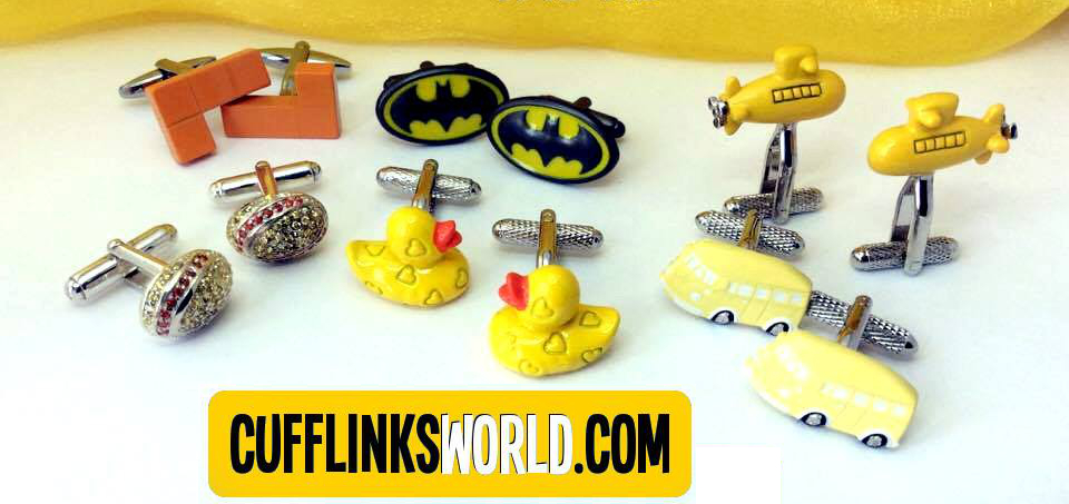 Choose from a great selction of yellow cufflinks from formal to novelty, funny, special and sparkling.