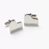 Chrome Grand Piano Music cufflinks