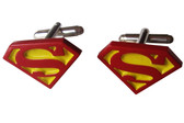 Superman color logo cufflinks
