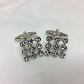 Square crystals cufflinks
