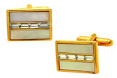 Gold Plated Mother of Pearl Cufflinks