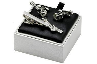 Guitar cufflinks gift set