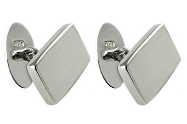 Sterling silver cufflinks chain linked