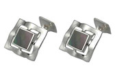 Stunningly Beautiful Sterling Silver hand-made cufflinks