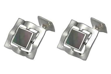 Stunningly Beautiful Sterling Silver hand-made cufflinks