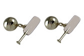 Cricket Silver Cufflinks